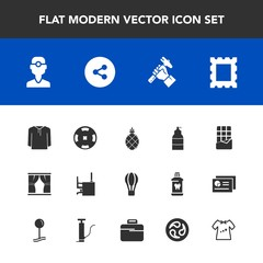 Modern, simple vector icon set with button, home, poker, foreman, casino, spray, jacket, air, curtain, dentistry, fruit, parachute, tropical, exotic, dental, money, pineapple, sweet, picture icons