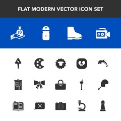 Modern, simple vector icon set with suit, spice, game, film, dolphin, chess, wildlife, tie, piece, footwear, heart, clothing, food, animal, drawing, finance, clothes, fashion, estate, shirt, bag icons