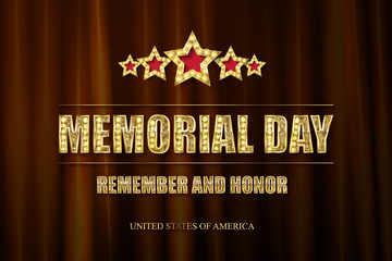 Memorial day background vector art
