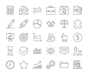 Audit icons set.