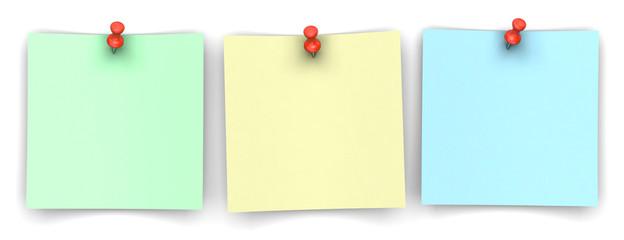 3 Notizzettel