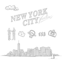 New York City travel sketches