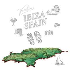 Ibiza, Spain, travel marketing cover