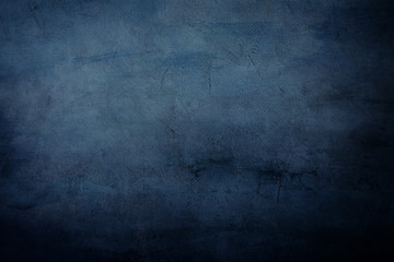 dark blue canvas painting draft detail, background or texture