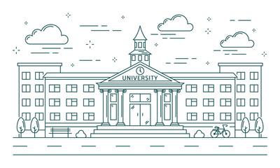 University line building.