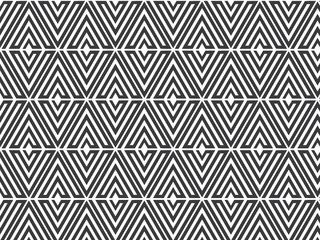 flower pattern vector, repeating linear of triangle petal like flower, monochrome stylish, monochrome hexagonal pattern, arabesque optical pattern in black and white.