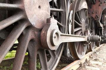 Old steam train details