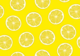 Lemons seamless background