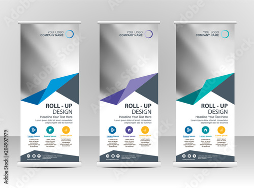 Roll up banner stand template design\