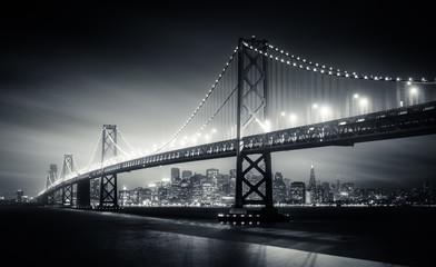 Poster de jardin San Francisco San Francisco Bay Bridge at night