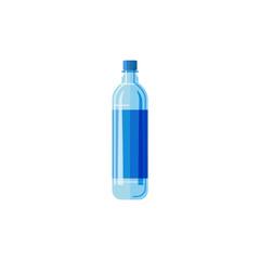 Plastic bottlewhite background.