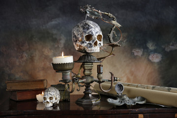 Steampunk teschio tatoo