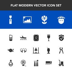 Modern, simple vector icon set with chinese, alcohol, red, game, phone, play, astronomy, communication, nature, photo, poker, drink, picture, business, flower, stationary, liquid, planet, sport icons