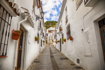 street in Mijas, Spain