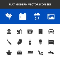 Modern, simple vector icon set with clean, medical, vehicle, fashion, bed, weather, bottle, machine, scan, clothes, frame, image, furniture, flower, water, file, beverage, blossom, white, nurse icons