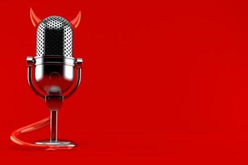 Radio microphone with devil concept