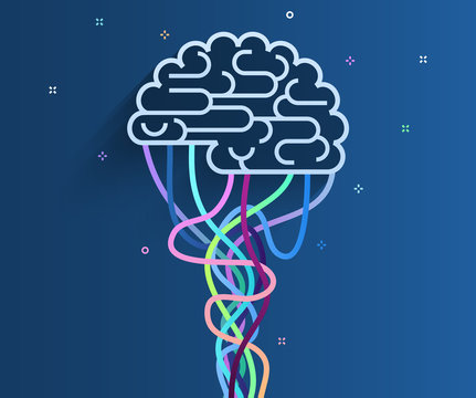 The brain is connected to the network.
