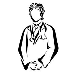 Doctor with a stethocoque, medicine