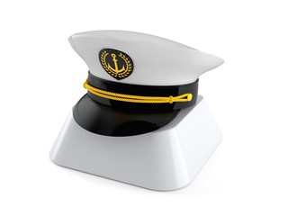 Captain's hat on computer key