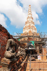Renovate Chedi of Wat Chaiwatthanaram.