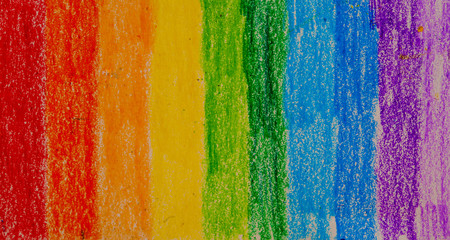 Pastel pen (oil pen) palette rainbow, background
