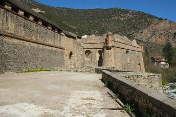 Photo sur Aluminium Népal Medieval fortress walls in Villefranche De Conflent, France