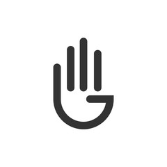 Hand Logo Vector Template Design Illustration