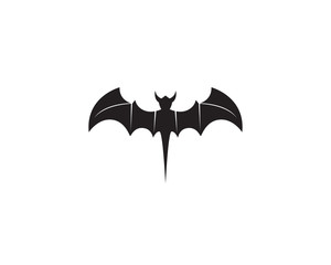 Bat black  logo template white background icons app