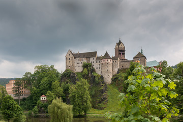 Burg Loket, Ritterburg in der Nähe von Karlsbad, Tschechische Republik