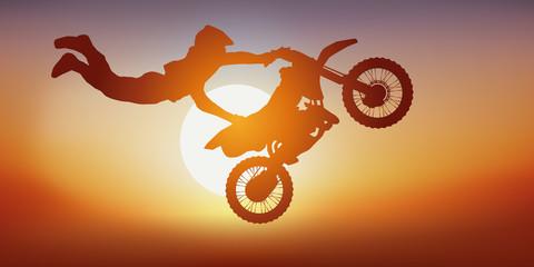 moto, moto acrobatique, moto cross, sport extrème, saut, sauter, cascadeur, acrobate