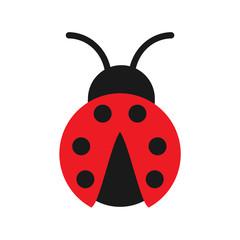 The ladybug isolated on white background. Red ladybug Vector stock.