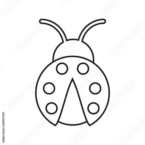 coloring pages of flying ladybugs - photo#30
