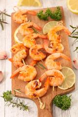 fried shrimp on stick