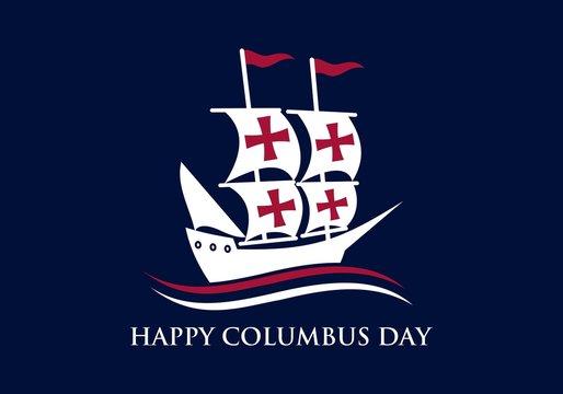Happy Columbus Day National Usa Holiday