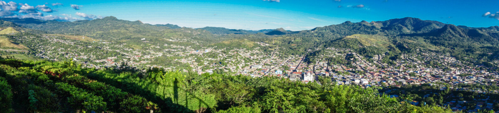 nice view from the lookout in the city of matagalpa
