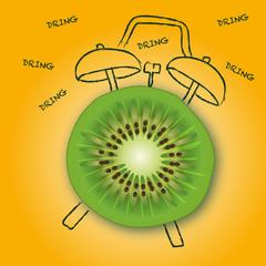 kiwi - réveil - petit déjeuner - fruit - diète - vitamine - énergie - réveil matin - vitamine C - alimentation