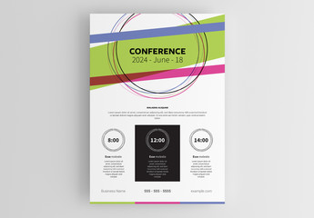 Event Flyer Layout with Colorful Header
