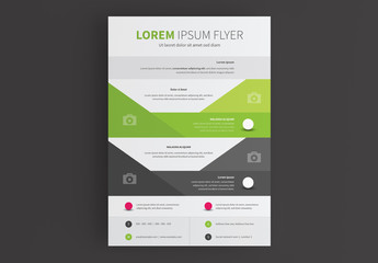 Business Flyer Layout with Triangle Shapes