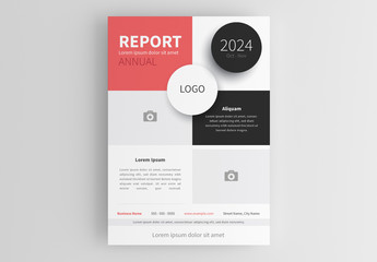 Business Flyer Layout with Rectangular Sections
