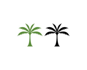 Coconut  tree icon logo vector template