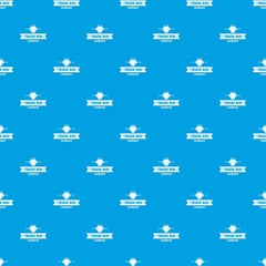 Bin household pattern vector seamless blue