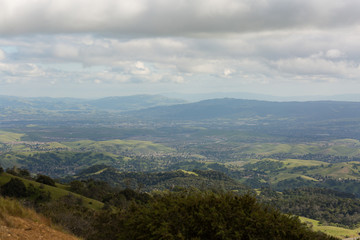 View from Mount Diablo looking west towards East Bay area and ocean
