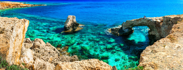 Deurstickers Cyprus Outstanding beauty and cystal clear waters of Cyprus. arch bridge near Agia Napa