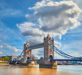 Wall Mural - Tower Bridge on a bright sunny day in Summer, panoramic image