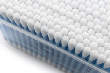Cotton swabs in the box