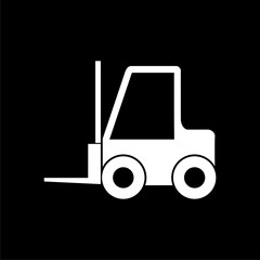 Forklift icon, Forklift truck on dark background