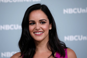 "Actor Melissa Fumero from the NBC series ""Brooklyn Nine-Nine"" poses at the NBCUniversal UpFront presentation in New York City"