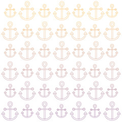 background of anchors pattern, vector illustration