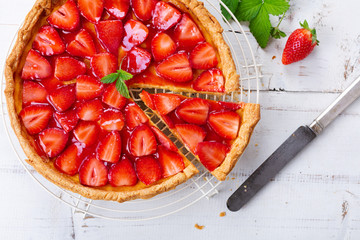 Delicious homemade strawberry tart