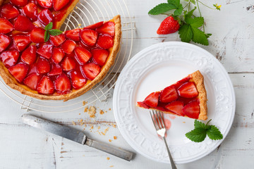 Home made delicious strawberry tart